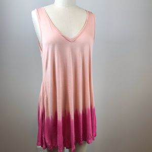 Free People | Pink Ombré Swing Tank